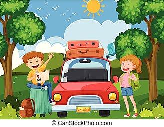 Tourist Travel on Holiday