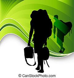 Tourist Travelers Men