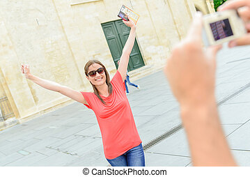 tourist, verrückt