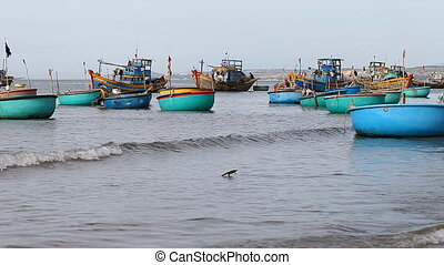 Tourist Vietnam. Fishing boats - Tourist Vietnam. Fishing...