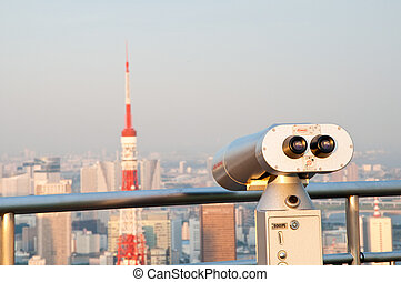 Tourist Viewpoint - The Tokyo Tower seen from a tourist...