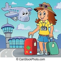 Tourist woman theme image 2
