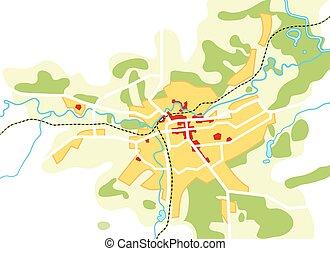 touriste, guide, urbain, city., parcours, chart., navigation, géographique, emplacement, carte
