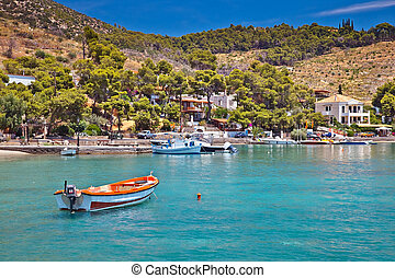 Touristic area on Poros, Greece