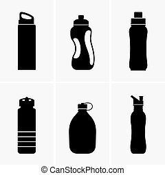 Touristic bottle icon - Touristic bottles, shade picture