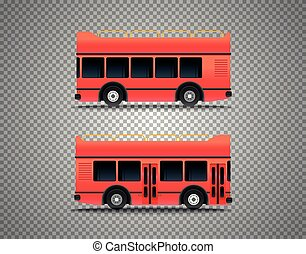 Touristic bus isolated on transparent background. Layered and detailed illustration