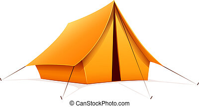 Touristic camping tent. Eps10 vector illustration. Isolated...