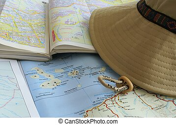 touristic maps - geographic map of the Galapagos islands and...