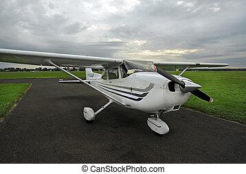 Touristic plane - Small touristic plane parked in local ...