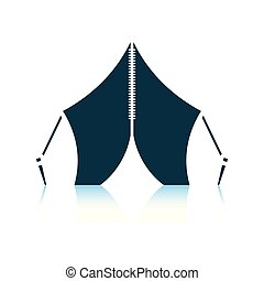 Touristic tent icon. Shadow reflection design. Vector...