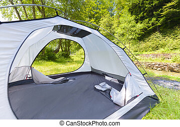 Touristic Tent in a Forest