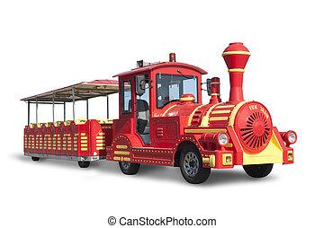 Touristic Train fake old style locomotive