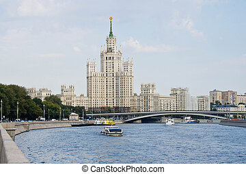 touristic view of Moscow center in good weather