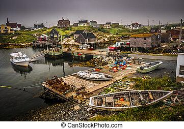 Touristic village of Peggy's Cove Nova Scotia Canada
