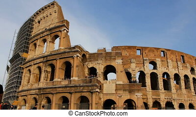 Tourists around Roman Colosseo