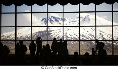 Tourists at Mt. St. Helens