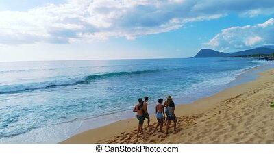 Tourists enjoying on beach 4k - Tourists enjoying on beach...