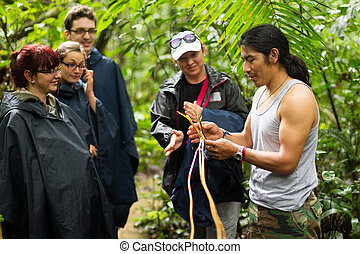 Tourists Group In Amazonia - Naturalist Local Guide With...