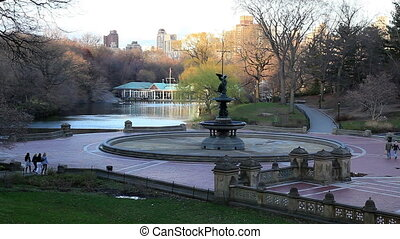 Tourists in Central Park, New York