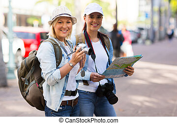 tourists in town