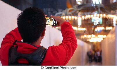 Tourists photos religious architecture - International...