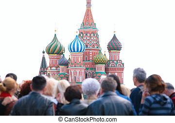 tourists, se, st.basil, domkyrka