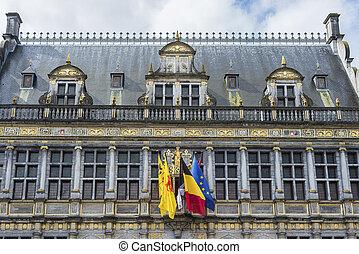 Tournai town hall in Belgium. - Tournai town hall, ...
