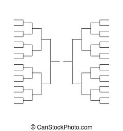Tournament bracket background icon template