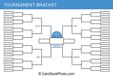 Tournament Bracket - Tournament bracket with space for your...
