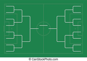 Tournament bracket vector. Championship template.