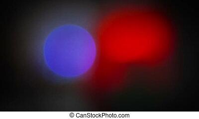 tournant, clignotant, police, lumière