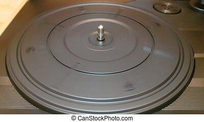tourne-disque, platine, noir, plastique