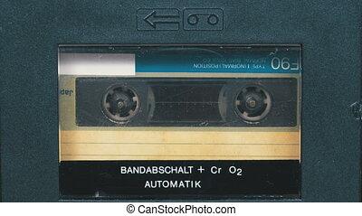 tourne, vendange, magnétophone cassettes bande, audio