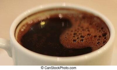 tourner, café blanc, tasse