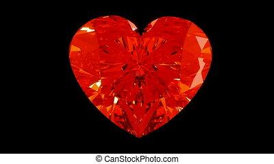 tourner, coeur, diamant, ou, loopable