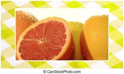 tourner, fruits assortis