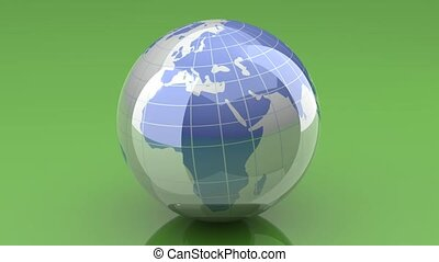 tourner, globe, -, loopable