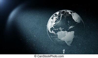 tourner, la terre, satellite