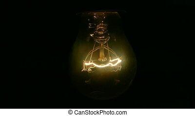 tourner, mouvementde va-et-vient, lumière, electricity., ...