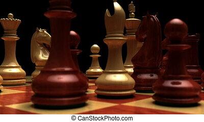 tourner, planche, échecs, boucle, seamless