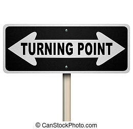tourner, point, décision, bidirectionnel, isolé, signe, important, route