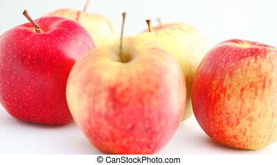 tourner, pommes, hd