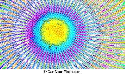 tourner, rayons, hypnotique, coloré, papier peint