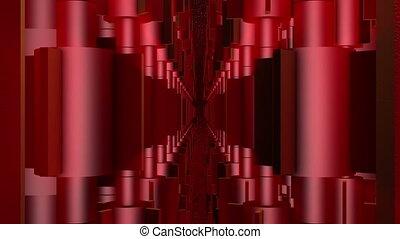tourner, rouges, valves