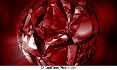 tourner, seamless, mouvement, cristal, fond, rubis, boucle