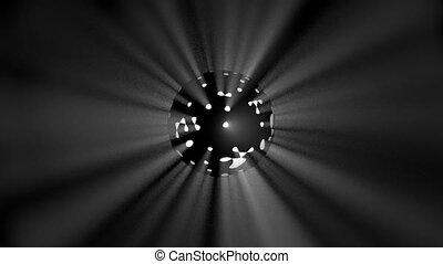tourner, sphère, 3d
