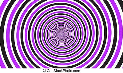 tourner, spirale, hypnotique