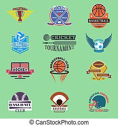 tournoi, concurrence, clubs, sport, symbols., embleme,...