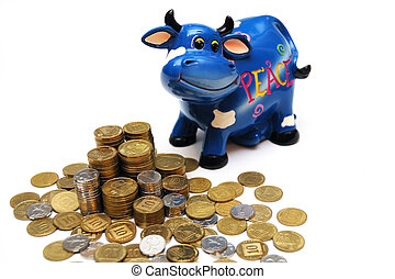 touro, &, dinheiro