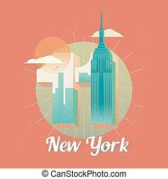 tours, centre, usa, commercer, jumeau, york, nouveau monde